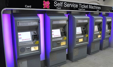 Self-service ticketing machine for London Olympic Games